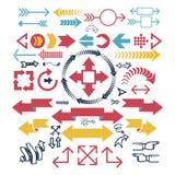 Illustration de vecteur d'icône de Web de flèche Images stock
