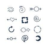 Illustration de vecteur d'icône de Web de flèche Photo stock