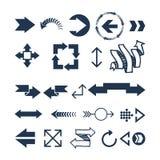 Illustration de vecteur d'icône de Web de flèche Image libre de droits