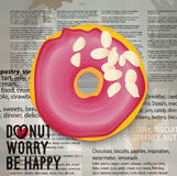 Illustration de vecteur d'icône réaliste de beignet Images libres de droits