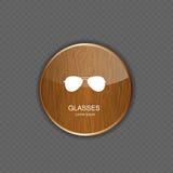 Illustration de vecteur d'icônes d'application en verre Photographie stock libre de droits