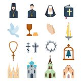 Illustration de vecteur d'icônes de religion Image stock