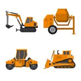 Illustration de vecteur d'icône de construction et de construction Ensemble de construction et de symbole boursier de machines po illustration de vecteur