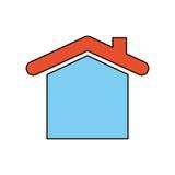 Illustration de vecteur d'immobiliers de Chambre Images stock