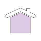Illustration de vecteur d'immobiliers de Chambre Images libres de droits