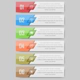 Illustration de vecteur d'Infographic peut être employé pour la disposition de déroulement des opérations, diagramme, numérote l' Photos libres de droits
