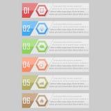 Illustration de vecteur d'Infographic peut être employé pour la disposition de déroulement des opérations, diagramme, numérote l' Images stock