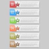 Illustration de vecteur d'Infographic peut être employé pour la disposition de déroulement des opérations, diagramme, numérote l' Images libres de droits