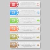 Illustration de vecteur d'Infographic peut être employé pour la disposition de déroulement des opérations, diagramme, numérote l' Photos stock