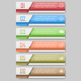 Illustration de vecteur d'Infographic peut être employé pour la disposition de déroulement des opérations, diagramme, numérote l' Photo libre de droits