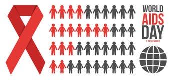 Illustration de vecteur d'infographics de Journée mondiale contre le SIDA illustration de vecteur