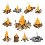 Illustration de vecteur d'isolement par feux illustration libre de droits