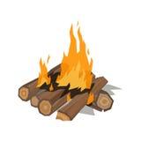 Illustration de vecteur d'isolement par flamme de feux illustration libre de droits