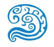 Illustration de vecteur d'onde bleue abstraite Photos stock