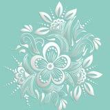 Illustration de vecteur d'ornement de mehndi Style indien traditionnel, éléments floraux ornementaux pour le tatouage de henné Image libre de droits