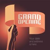 Illustration de vecteur d'ouverture officielle, bannière pour le nouveau magasin, centre commercial illustration de vecteur
