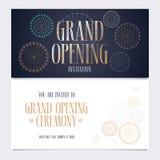 Illustration de vecteur d'ouverture officielle, carte d'invitation Photo stock