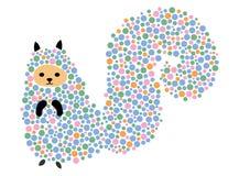 Illustration de vecteur d'un écureuil de bande dessinée Tamia stylisée Art pour des enfants Animal des chiffres géométriques Forê Illustration de Vecteur