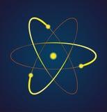 Illustration de vecteur d'un atome Images stock