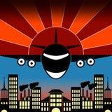 Illustration de vecteur d'un avion Images libres de droits