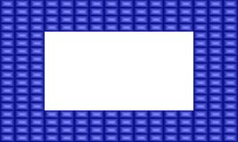 Illustration de vecteur d'un cadre bleu de saphir Images libres de droits