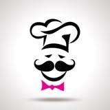 Illustration de vecteur d'un chef blanc moderne Image stock