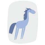 Illustration de vecteur d'un cheval de bande dessinée Images stock