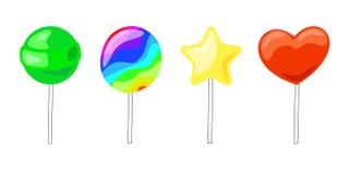 Illustration de vecteur d'un ensemble de bonbons sur des bâtons illustration libre de droits