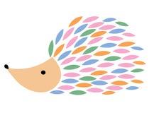 Illustration de vecteur d'un hérisson de bande dessinée Hérisson stylisé Art pour des enfants Animal des chiffres géométriques Fo Illustration Libre de Droits