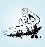 Illustration de vecteur d'un joueur de polo d'eau Photo libre de droits