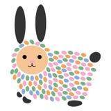 Illustration de vecteur d'un lièvre de bande dessinée Lapin stylisé Art pour des enfants Animal des chiffres géométriques Habitan Illustration Libre de Droits