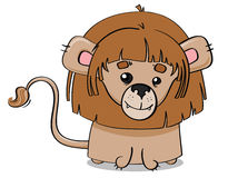 Jeune illustration de petit animal de lion Photos stock