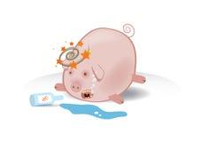 Illustration de vecteur d'un porcin ivre illustration stock