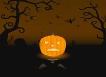 Illustration de vecteur d'un potiron effrayant Images stock