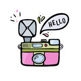 Illustration de vecteur d'un rétro appareil-photo de photo Icône d'appareil-photo de photo de vintage d'isolement sur le blanc Image stock