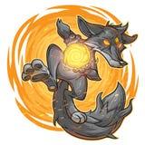 Illustration de vecteur d'un renard du feu Images libres de droits