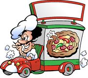 Illustration de vecteur d'un service de distribution de pizza Photo libre de droits