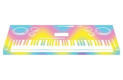 Illustration de vecteur d'un synthétiseur Instrument de musique de clavier Musique d'Electonic Emblème musical Synthétiseur de co Image stock