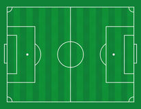 Illustration de vecteur d'un terrain de football Photo stock