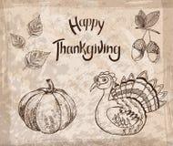 Illustration de vecteur d'un thanksgiving heureux Photos stock