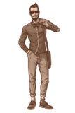 Illustration de vecteur d'un type à la mode Images stock
