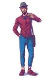 Illustration de vecteur d'un type à la mode Photographie stock