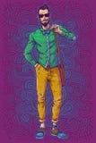 Illustration de vecteur d'un type à la mode Photos libres de droits