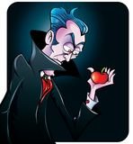 Illustration de vecteur d'un vamire de bande dessinée Image stock