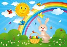 Illustration de vecteur d'une carte de Pâques Image stock