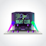 Illustration de vecteur de bâtiment de boîte de nuit Images libres de droits