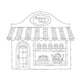 Illustration de vecteur de bâtiment de boutique de boulangerie Photo stock