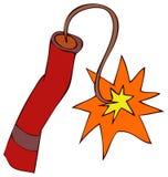 Illustration de vecteur de bâton de dynamite Photos stock