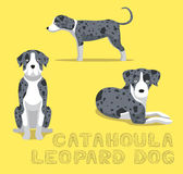 Illustration de vecteur de bande dessinée de chien de léopard de Catahoula de chien illustration stock