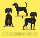 Illustration de vecteur de bande dessinée de Coonhound de chien illustration libre de droits